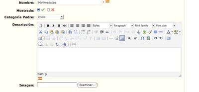 Agregar descripciones HTML en categorías Prestashop