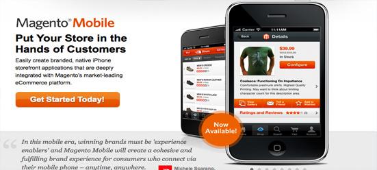 Magento permite comprar a través de móviles