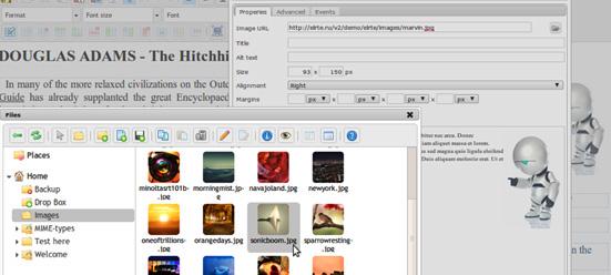 Editor de textos con gestor de archivos para proyectos web