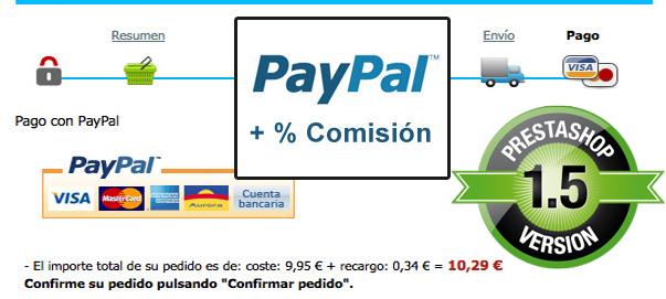 Módulo de Paypal con recargo para Prestashop 1.5