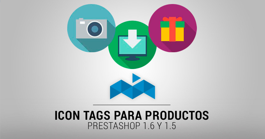 Módulo Prestashop 1.6: Icon tags para productos