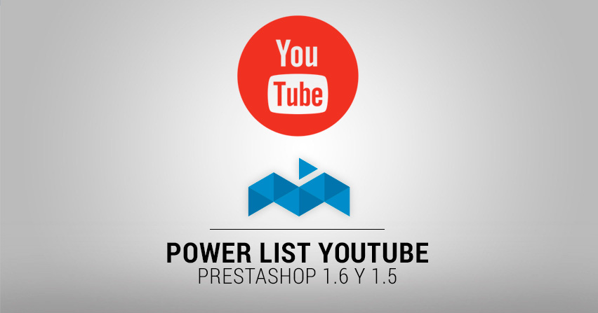 Módulo Prestashop 1.6: Power List Youtube