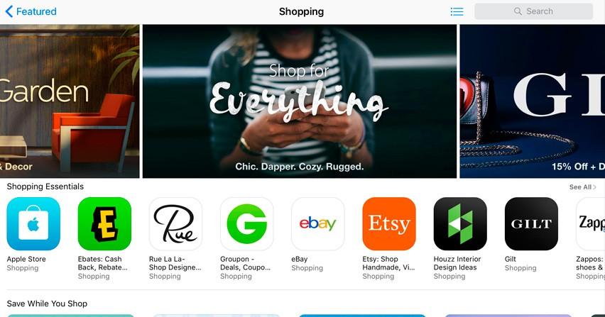 """Apple apuesta por el e-commerce con su nueva categoría """"Shopping"""""""