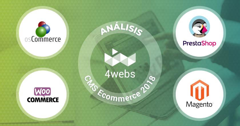 Análisis Tiendas online 2018: Prestashop, Oscommerce, Magento, Woocommerce