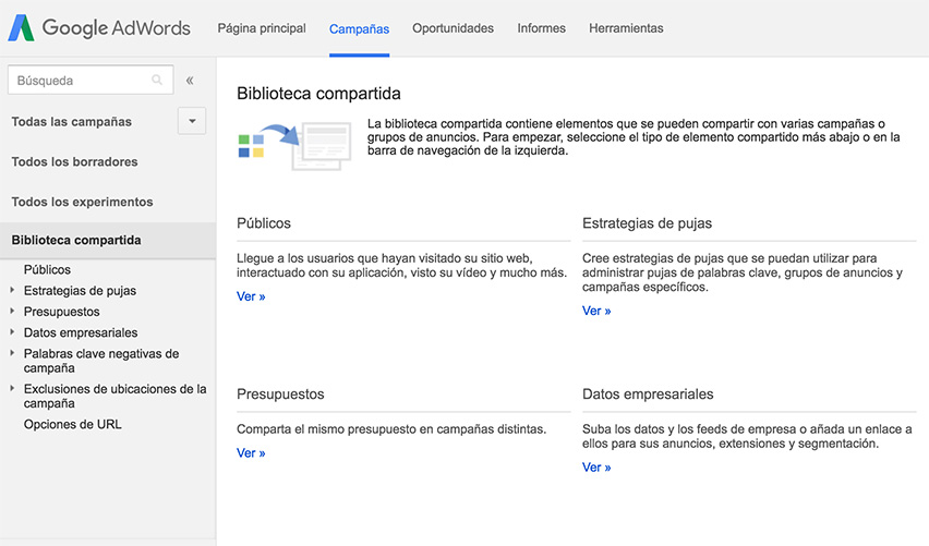 biblioteca-compartida-adwords