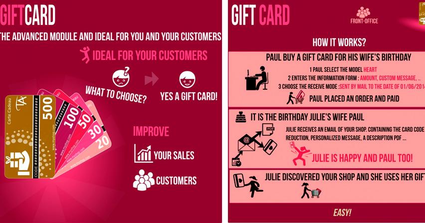 Módulo de la semana para Prestashop, tarjetas regalo