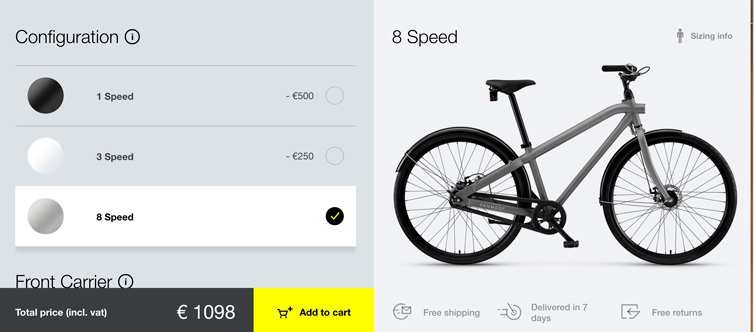 Configurador Bicicletas de Vanmoof
