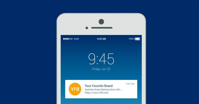 App móvil, Notificaciones Push para vender más