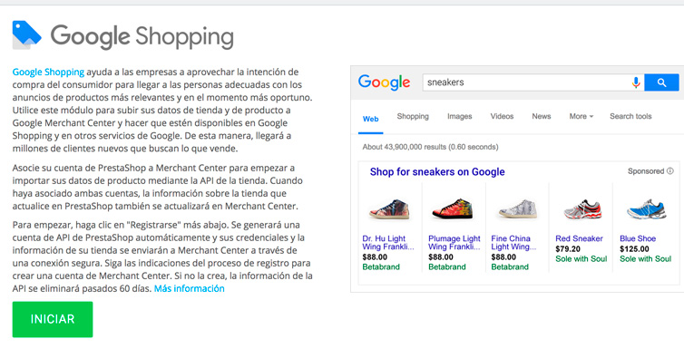 Conectando Google Shopping con Prestashop 1.6