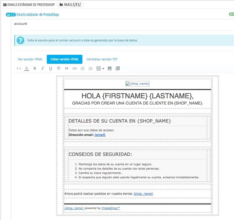 Consejos y pasos a seguir para editar los emails en Prestashop 1.7 ...
