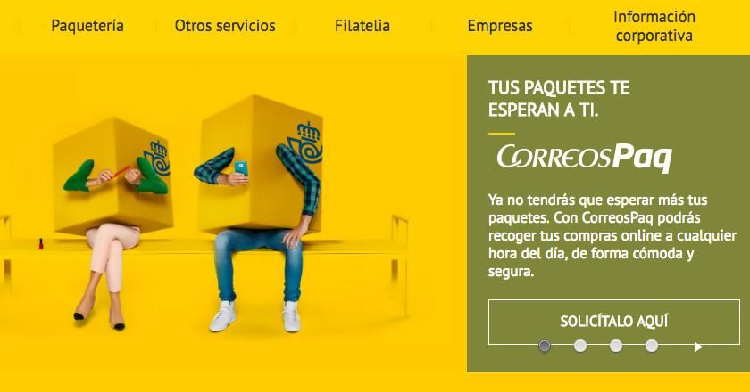 Correos instala buzones interactivos para comercio electrónico