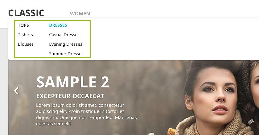 Cómo personalizar el menú de tu tienda Prestashop 1.7 con imágenes