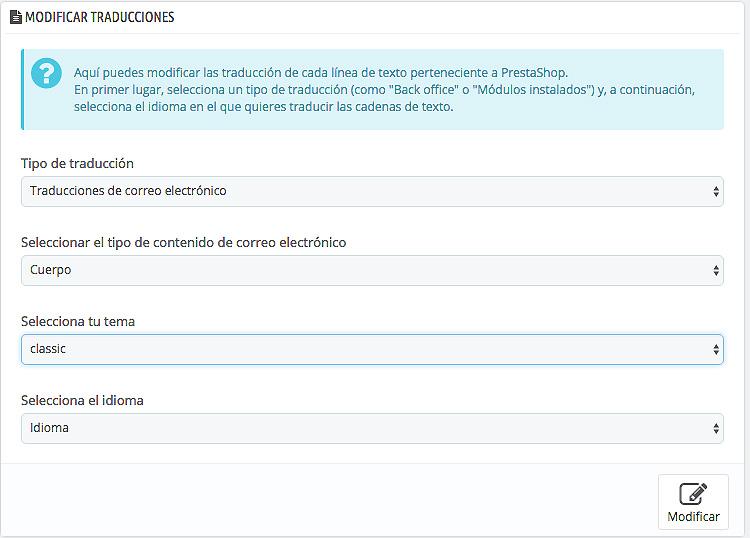 Tutorial: cómo gestionar las traducciones en Prestashop 1.7 | 4webs.es