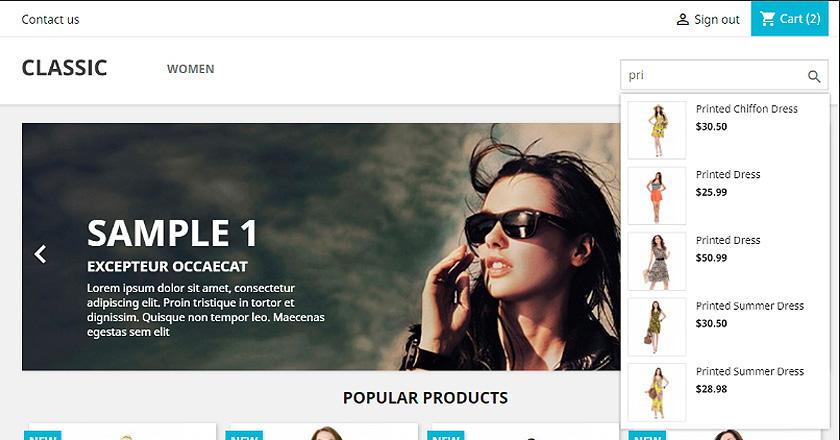Truco Prestashop 1.7: mostrar precios e imágenes en el buscador