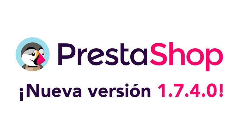 Ya está disponible para descargar la versión Prestashop 1.7.4.0 beta