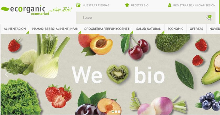 Diseño y Desarrollo Web del ecommerce Ecorganic Supermercado Ecológico