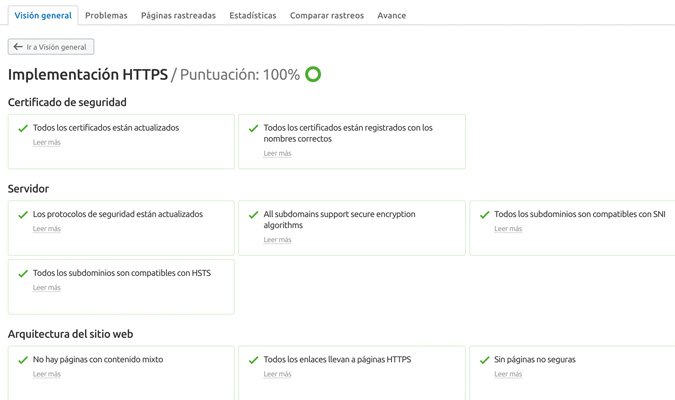 SSL con Semrush