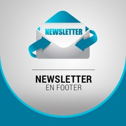 Newsletter en footer