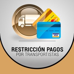 Restricción pagos en función de transportista
