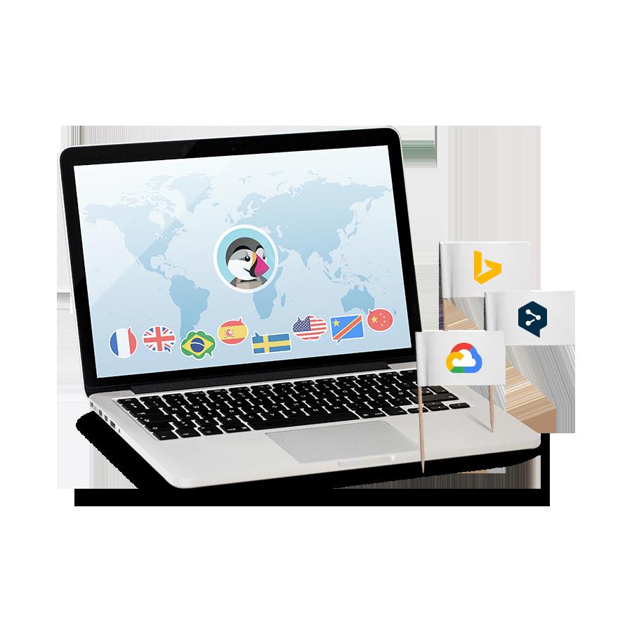 Prestashop Cloud Translation, Google, DeepL y Bing